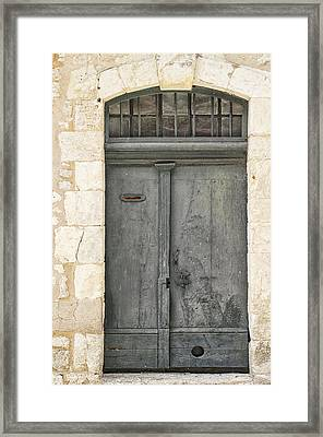 Grey French Door Framed Print
