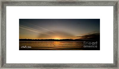 Grey Heaven - Sunrise Panorama Framed Print by Geoff Childs
