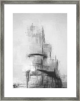 Grey Helix Framed Print by Lonnie Christopher