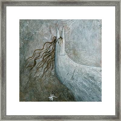 Grey Horse Framed Print by Aprille Lipton