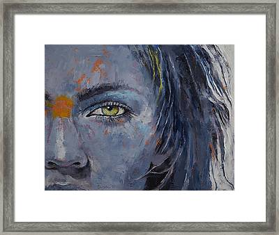 Grey Framed Print by Michael Creese