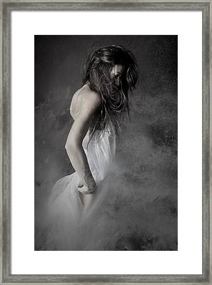 Grey Framed Print by Olga Mest