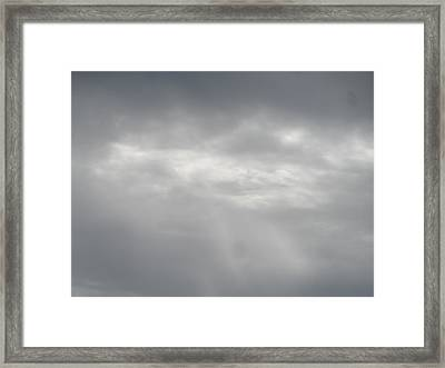 Grey Skies Above Framed Print by James Potts