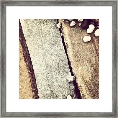 Grey Stone Abstract Framed Print by Christy Beckwith