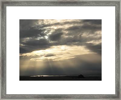 Grey Sunset Framed Print by Debra Madonna