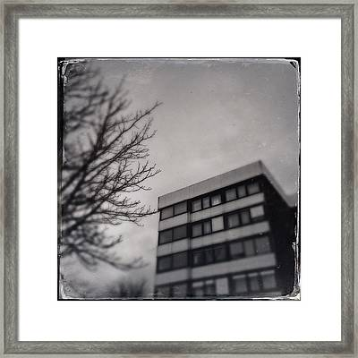 Grey Urban Architecture Framed Print
