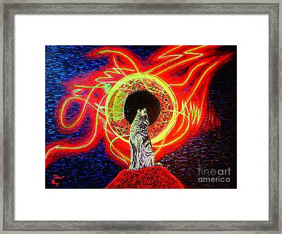 Framed Print featuring the painting Grey by Viktor Lazarev