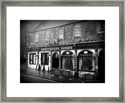Greyfriars Bobby In Edinburgh Scotland  Framed Print