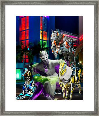 Greyhound Princesse Framed Print
