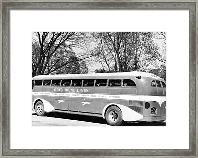 Greyhound X-1 Super Coach Bus Framed Print by Underwood Archives