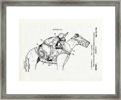 Greyhouse Racing Patent Framed Print