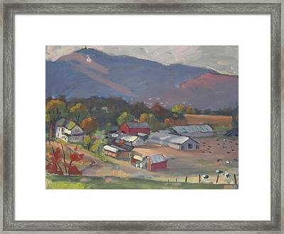 Greylock From The Ziemba Farm Framed Print