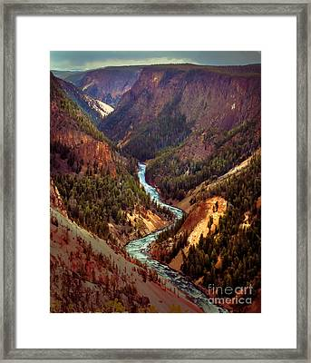 Grand Canyon Of The Yellowstone Framed Print by Robert Bales
