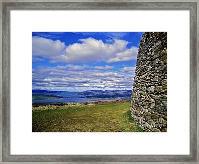 Grianan Of Aileach View Framed Print by Nina Ficur Feenan