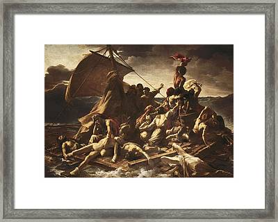 GÉricault, Théodore 1791-1824. The Raft Framed Print by Everett