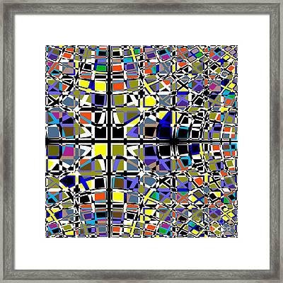 Grid Framed Print by Barbara Moignard