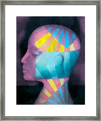 Grid Head Framed Print by Jeff  Gettis