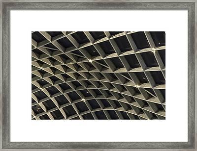 Grid Warp Framed Print by Lynn Palmer