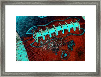 Gridiron Tool - The Football Framed Print by David Patterson