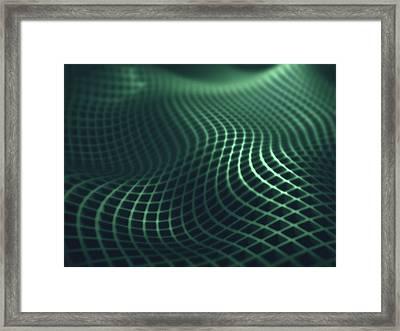 Gridlines Framed Print by Ktsdesign