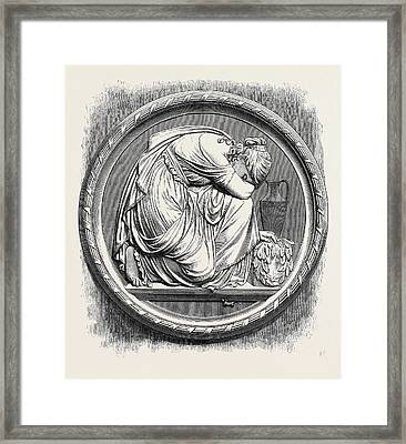 Grief, Berlin In The Royal Academy Exhibition 1871 Framed Print