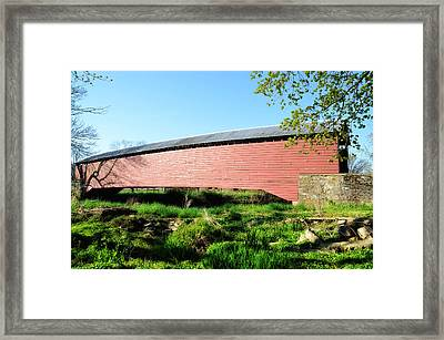 Griesemer's Covered Bridge Berks County Framed Print by Bill Cannon