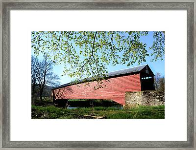 Griesemer's Covered Bridge Framed Print by Bill Cannon