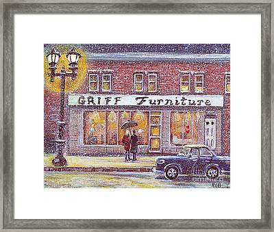 Griff Valentines' Birthday Framed Print by Rita Brown