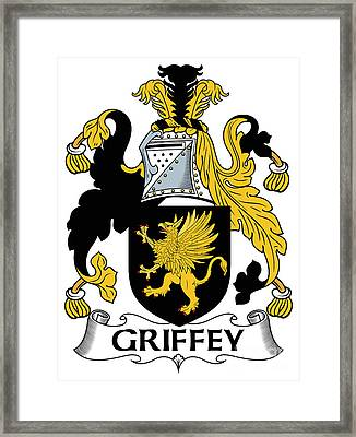 Griffey Coat Of Arms Irish Framed Print by Heraldry