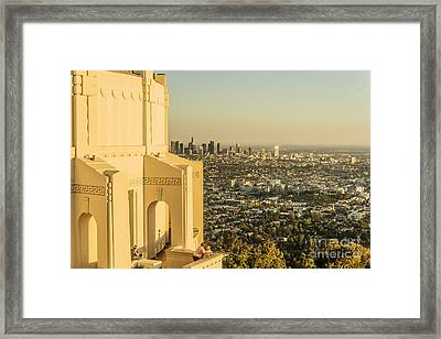 Griffifth Observatory Facade Framed Print