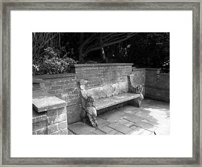 Griffin Bench Framed Print by Katie Beougher