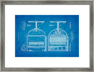 Griffin Confetti Maker Patent Art 1912 Blueprint Framed Print by Ian Monk