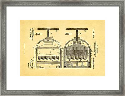 Griffin Confetti Maker Patent Art 1912 Framed Print by Ian Monk