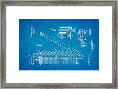 Griffin Confetti Maker Patent Art 1913 Blueprint Framed Print by Ian Monk