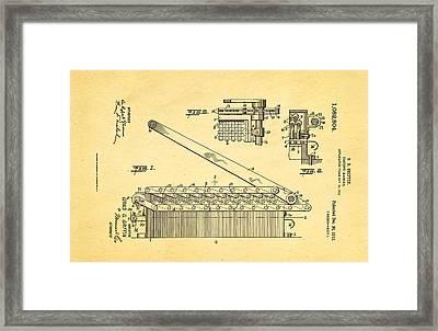 Griffin Confetti Maker Patent Art 1913 Framed Print