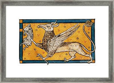 Griffin, Legendary Creature Framed Print by Photo Researchers