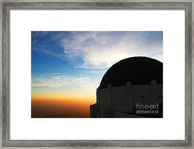 Griffith Observatory In Los Angeles Hollywood California At Suns Framed Print by ELITE IMAGE photography By Chad McDermott