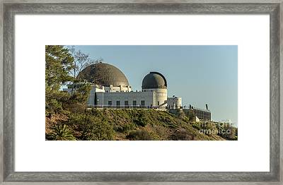 Griffith Observatory Profile Framed Print