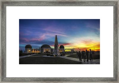 Framed Print featuring the photograph Griffith Observatory by Sean Foster
