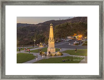 Griffith Park Statue Framed Print