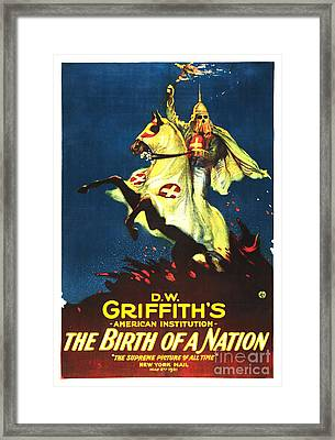 Griffith's Birth Of A Nation Framed Print