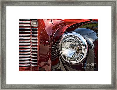 Grill And Headlamp Framed Print