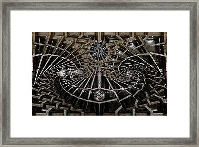 Grill Works 2 Framed Print by Ron Bissett