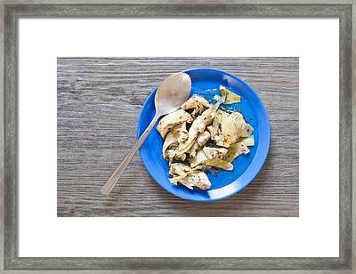 Grilled Artichoke Framed Print by Tom Gowanlock