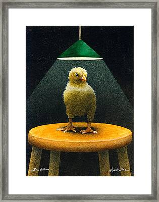 Grilled Chicken... Framed Print