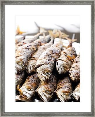 Grilled Fish Framed Print