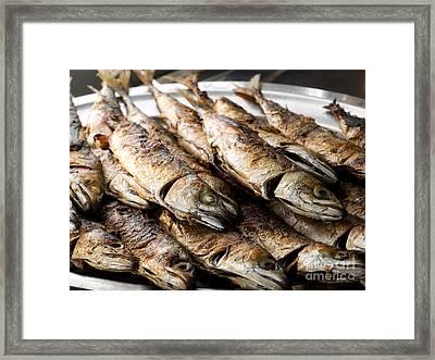 Grilled Mackerels Framed Print