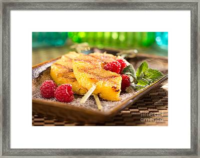 Grilled Pineapple  Framed Print