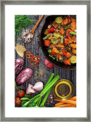 Grilled Vegetables Framed Print by Fcafotodigital