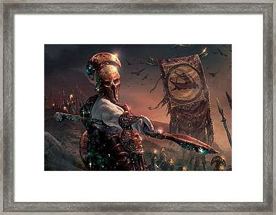Grim Guardian Framed Print